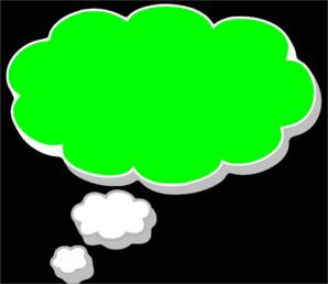 Dream clipart dream bubble Green Clip Green Clip Art