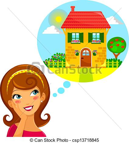 Dreaming clipart dream home #3