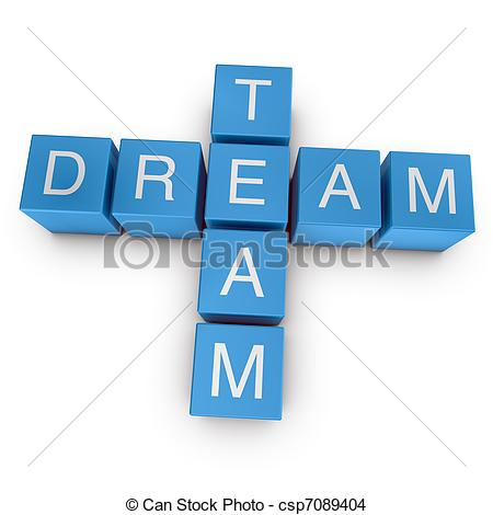 Dream clipart dream team  background csp19430729 crossword on
