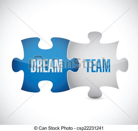 Dream clipart dream team  design a puzzle illustration