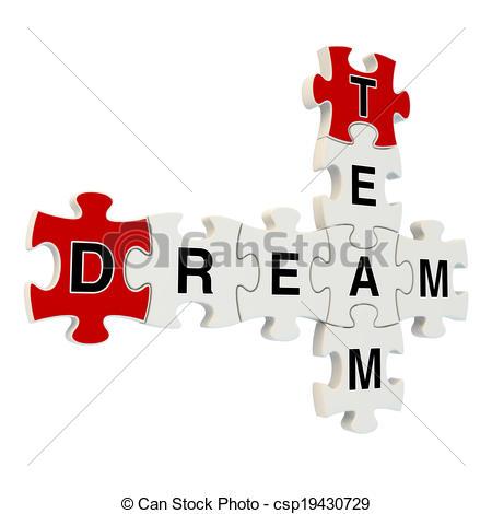 Dream clipart dream team Csp19430729 background background puzzle puzzle