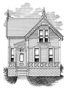Building clipart old fashioned  Story And house A
