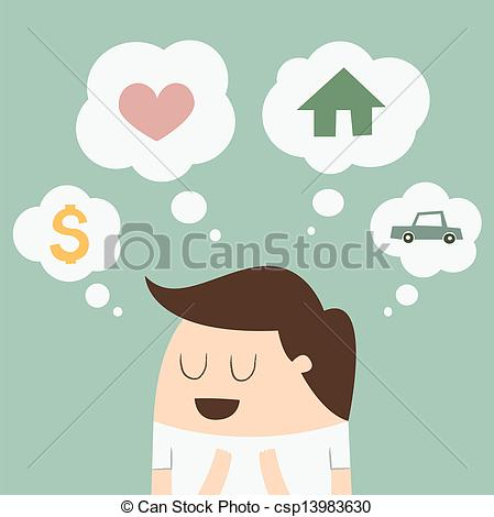 Dream clipart i think Man bubble Vector dream csp13983630