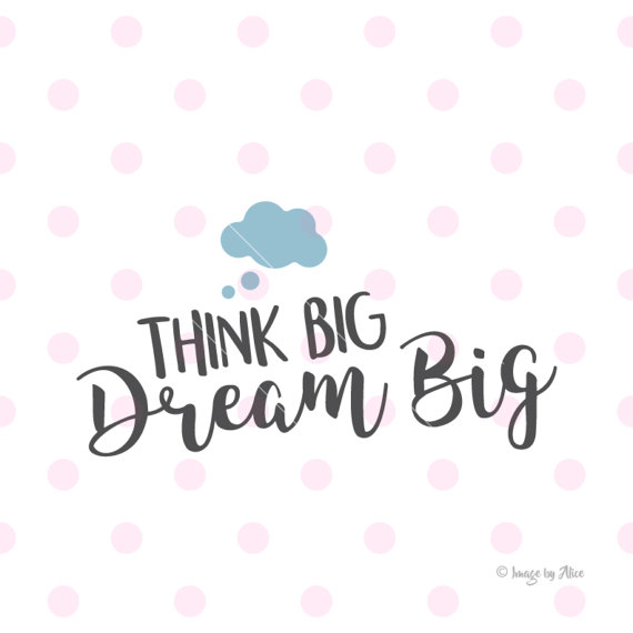 Dream clipart i think Art from Think Quote Inspirational