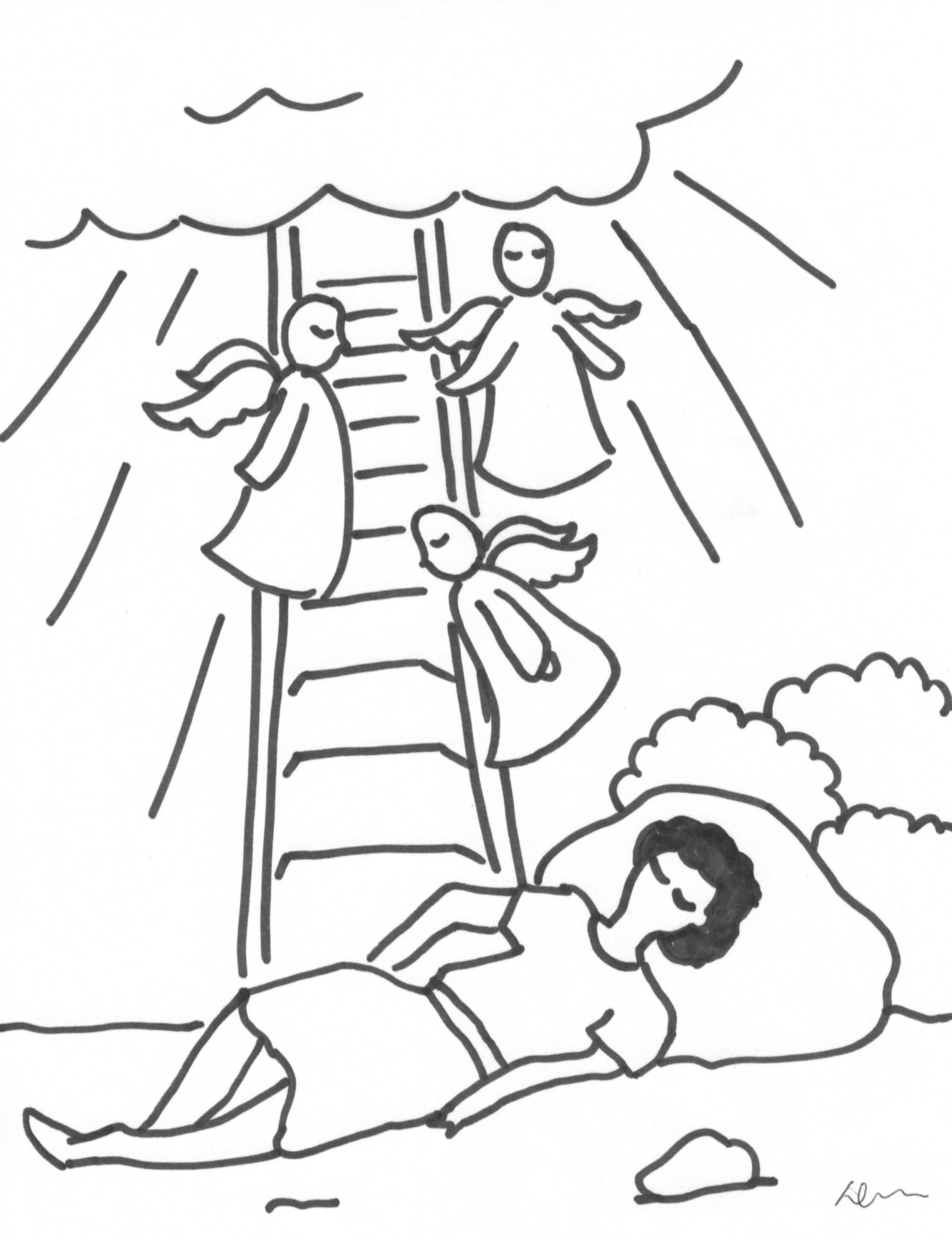Dreaming clipart jacob's Actives Crossmap Christian Kids Coloring