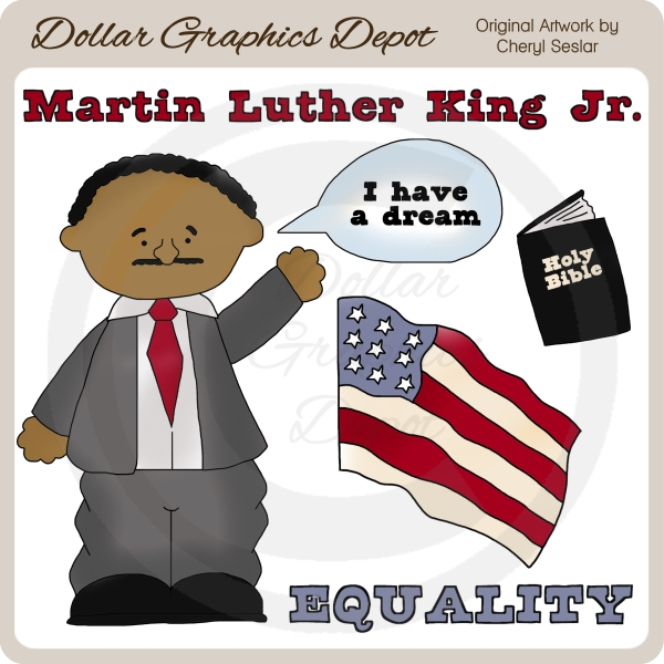 Martin Luther King clipart Martin Luther King I Have A Dream Clipart Jr  Clip Jr $1
