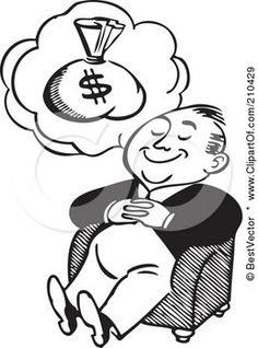 Dream clipart money man  Sack Money And Excited