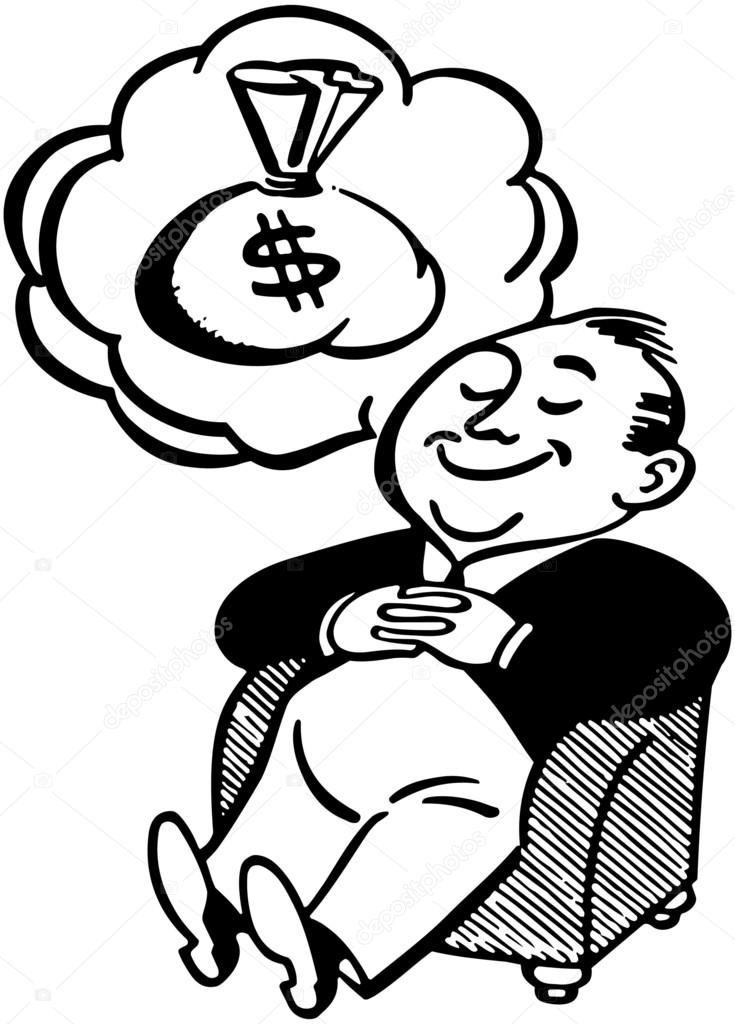Dream clipart money man © Of #55673739 Dreaming Vector