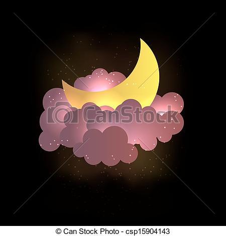Clouds clipart dream cloud Wallpaper csp15904143 Moon Vector dreams