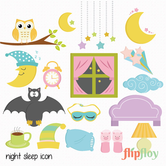 Dreaming clipart night sleep  Scrapbook Dark FlipfloyArt from