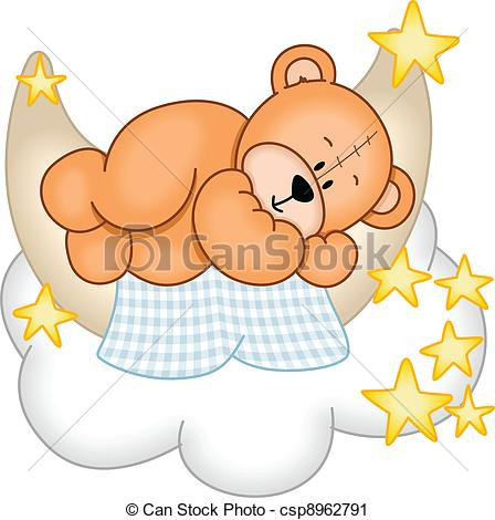 Teddy clipart sleepy Art Vector child little dreams: