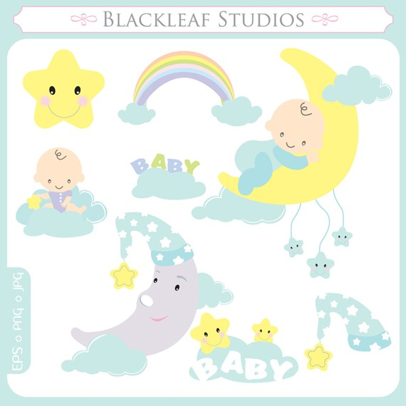 Moon clipart baby shower Time Instant Dreams Download dreamy
