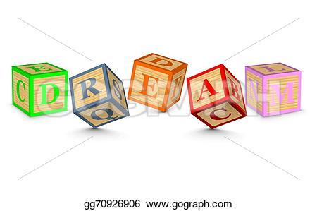 Dream clipart the word Dream  blocks alphabet EPS