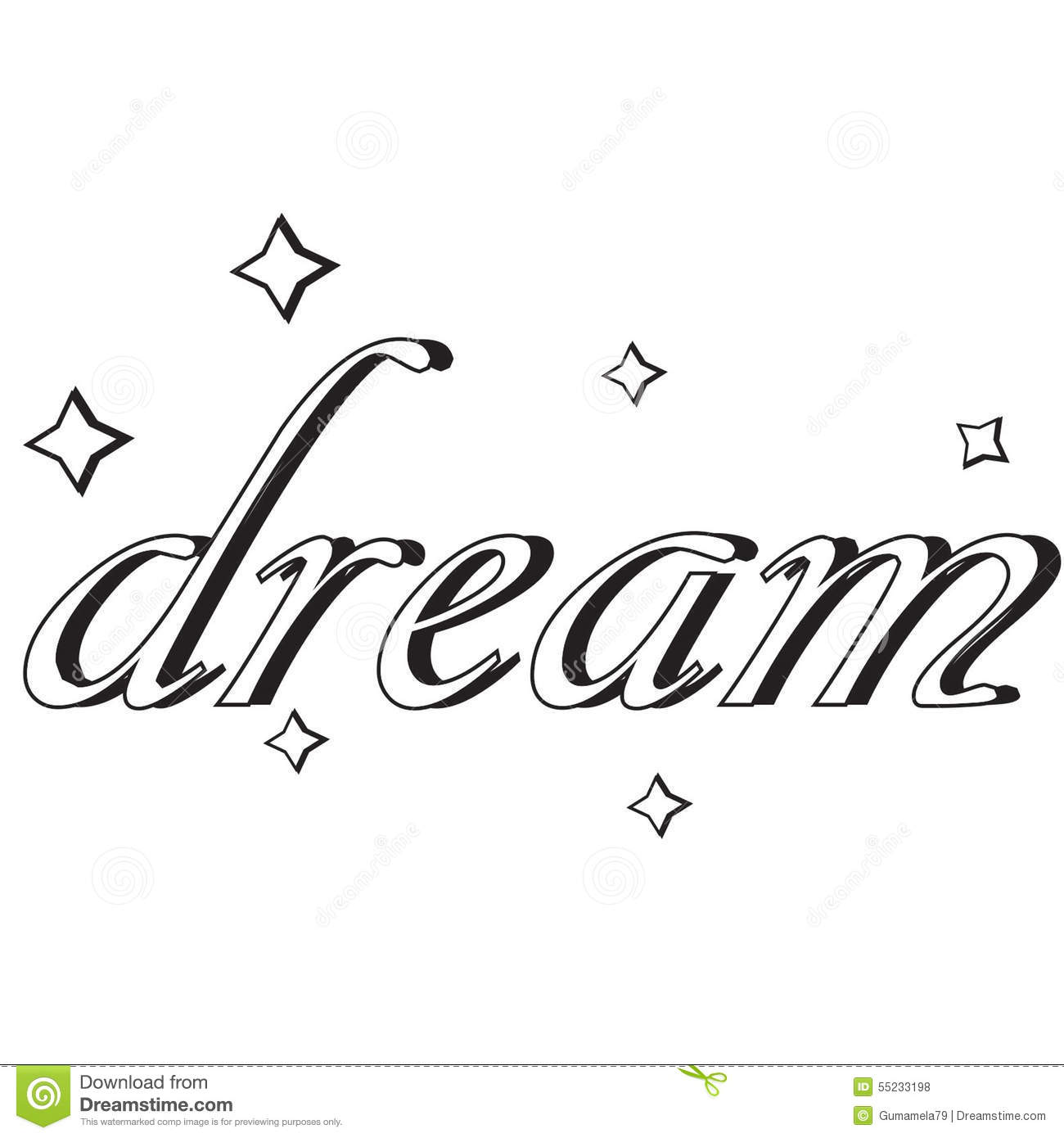 Dream clipart the word Clip Borders Free Clipart Word