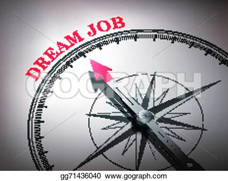 Dream clipart the word Abstract compass pointing the Vector