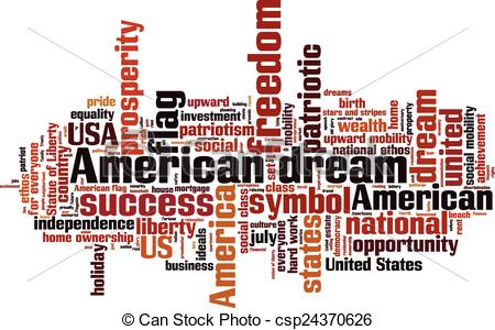 Dream clipart the word Dream  concept and American