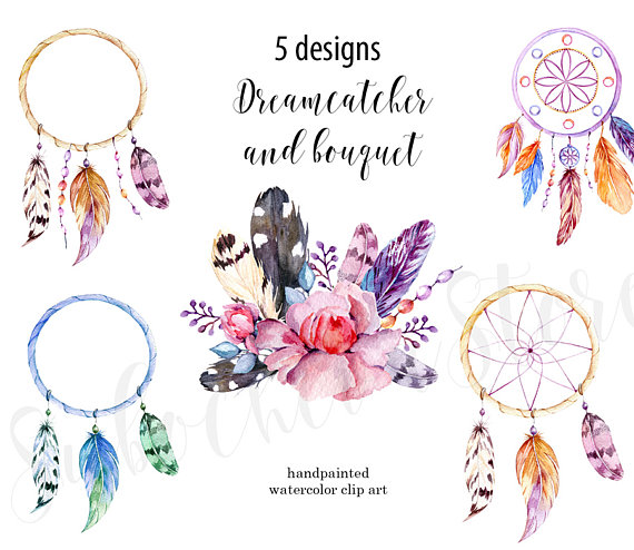 Dreamcatcher clipart geometric This Tribal Clipart  Watercolor