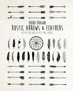 Dreamcatcher clipart geometric Dream Digital & Rustic Feathers