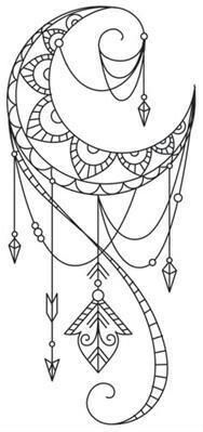 Dreamcatcher clipart geometric Find Dream  Crescent pretty