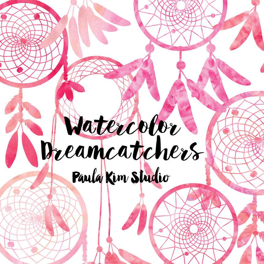Dreamcatcher clipart pink A Watercolor SALE Dreamcatcher file