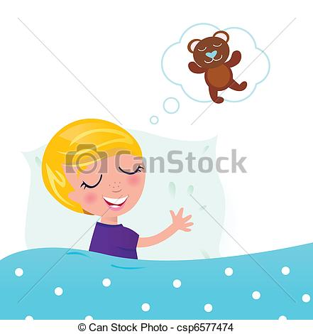 Dreaming clipart boy sleeping Vector dreaming EPS Teddy about