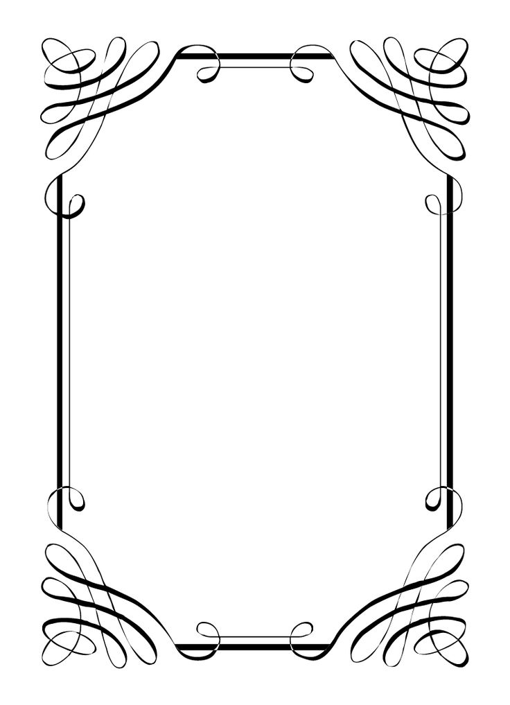 Bride clipart border Vintage on domain calligraphic frames