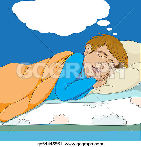 Dreaming clipart kid bed In Stock bed Illustrations kid