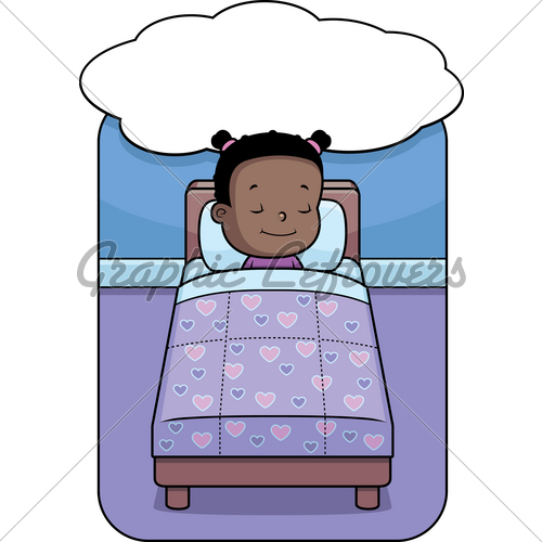 Dreaming clipart kid bed B Girl Clipart To Bed
