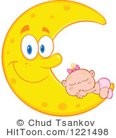 Dreaming clipart moon Free Illustrations Stock Clipart Girl