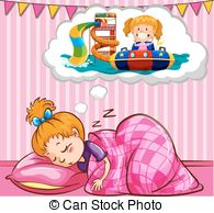 Dreaming clipart night sleep Is sleeping  sleeping Girl