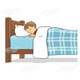 Dreaming clipart sleepy boy In clip Bed art Cliparts