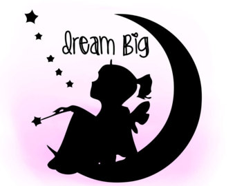 Dreaming clipart the word Quote little Digital girl SVG