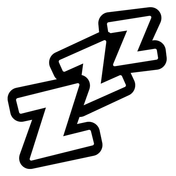 Dreaming clipart zzzz Cliparts black clipart and Cliparts