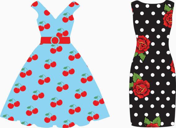 Dress clipart Dress com art Cliparting bunting