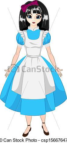 Dress clipart alice in wonderland Vector wonderland Clip Art Search