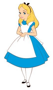 Dress clipart alice in wonderland Printable Coloring The in Earlymoments