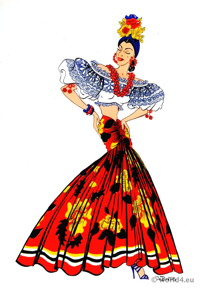 Dress clipart american traditional Fashion dress Fashion of Latin