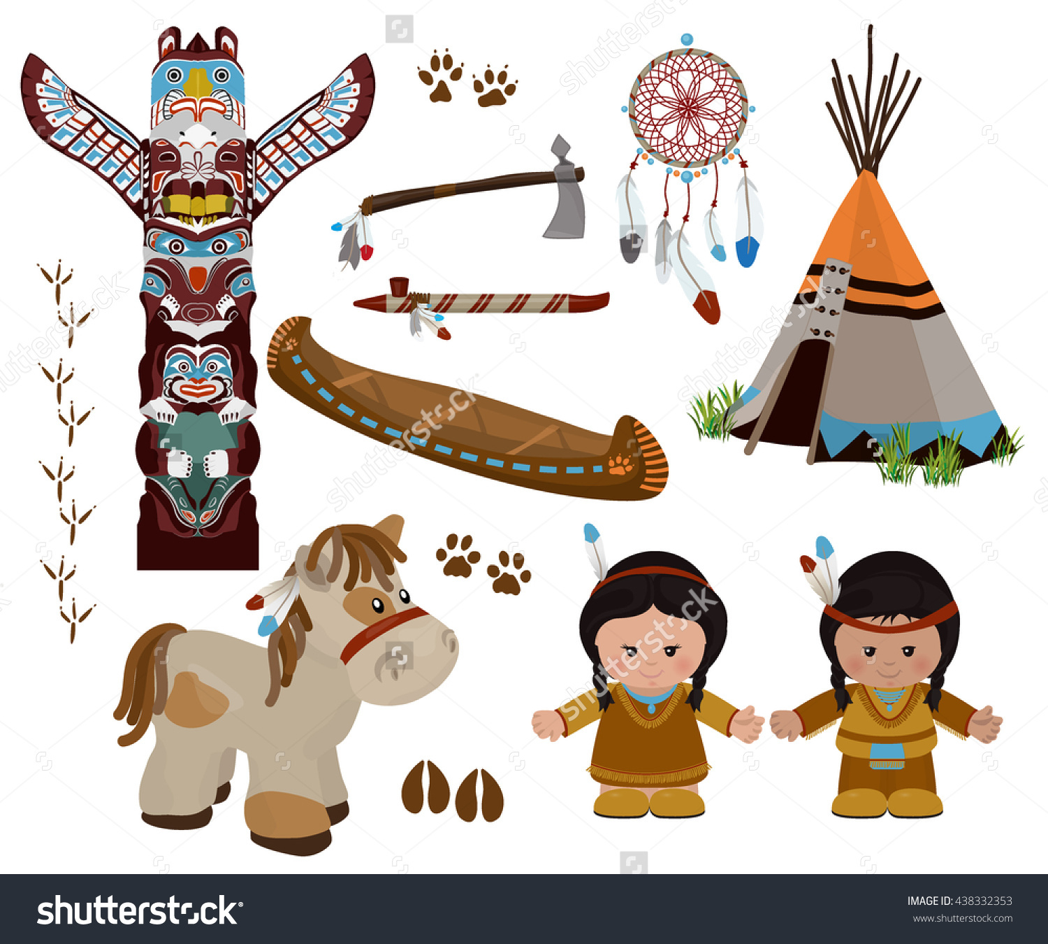 Dress clipart american traditional  characters symbols of in
