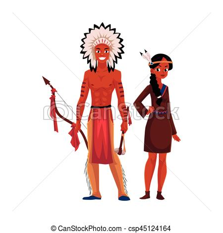 Dress clipart american traditional  Indian dress Vector Native