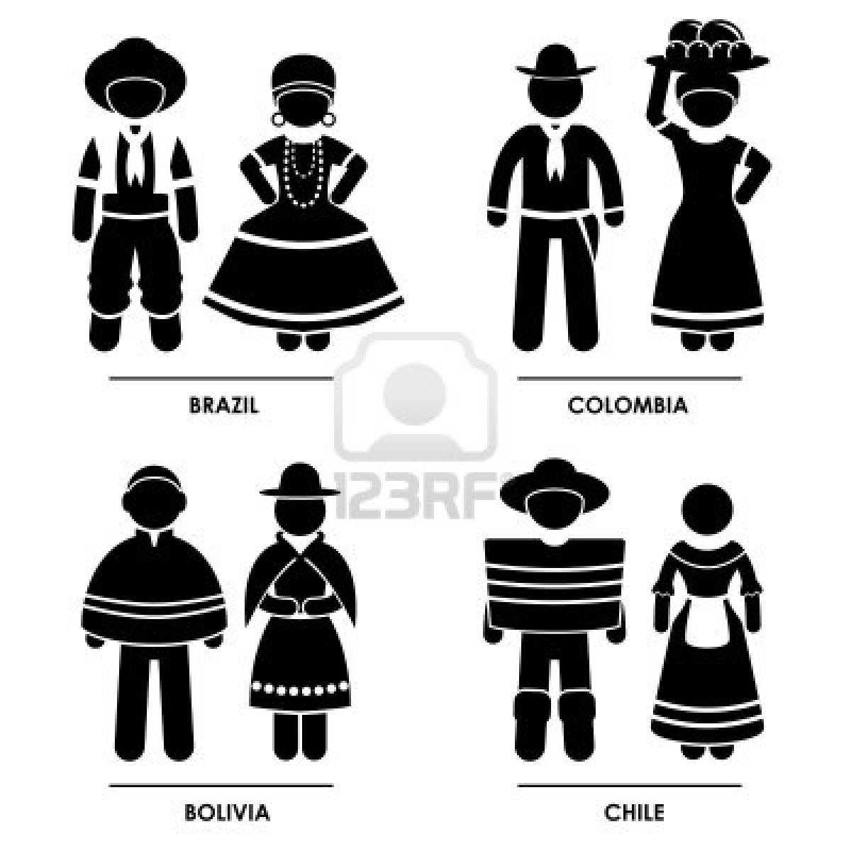 Dress clipart american traditional  Man Brazil Woman Clothing