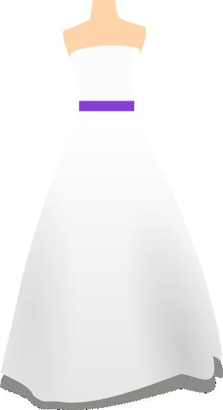 Gown clipart purple dress Purple at  com Clker