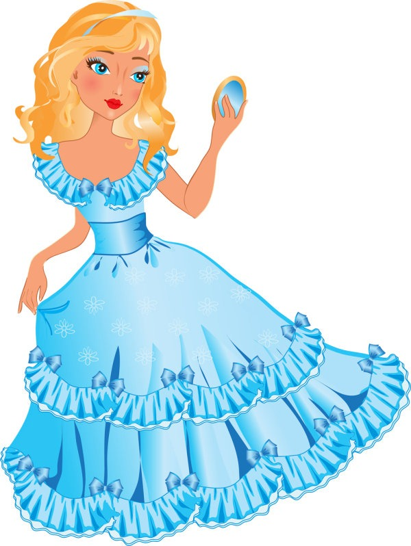 Beautiful clipart blue princess Cartoon World Free Collection Free