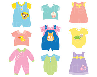 Dress clipart baby dress Clothes Baby Baby Shower Dress