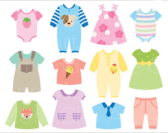 Dress clipart baby dress Digital dress Baby Download Clothes