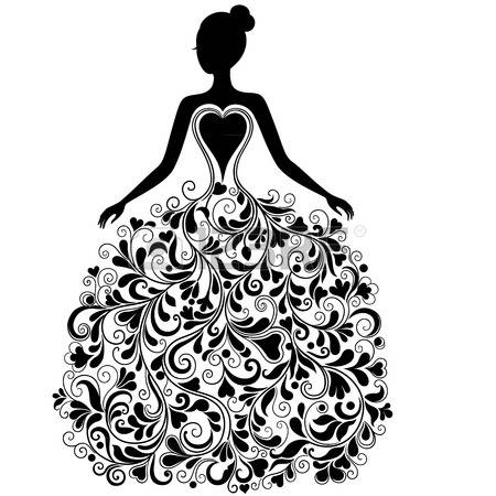 Gown clipart ball gown Clipart Vector dress Woman 472