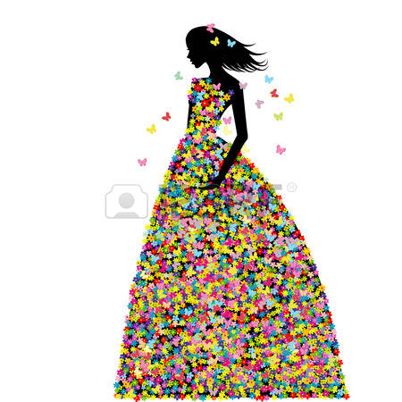 Gown clipart butterfly Collection 1300x1390 Prom dresses 97KB