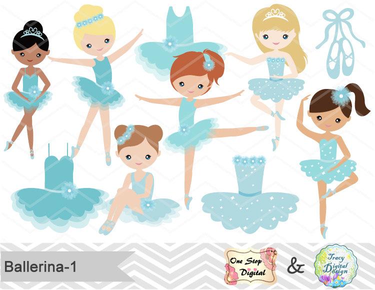 Ballet clipart cute ballerina Clipart Blond Blue Clipart collection