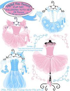 Pink Dress clipart ballet costume Comes Ballerina clipart DigitalFunFactory ballerinas