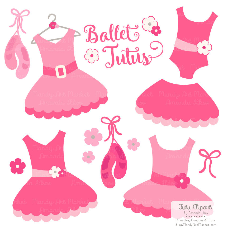 Dress clipart ballet tutu Clip for Clip Art Scrapbooks