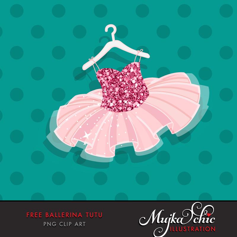 Dress clipart ballet tutu Clip Free Ballerina art Tutu